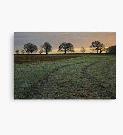 Winter Scene, near Droxford, Hampshire Canvas Print