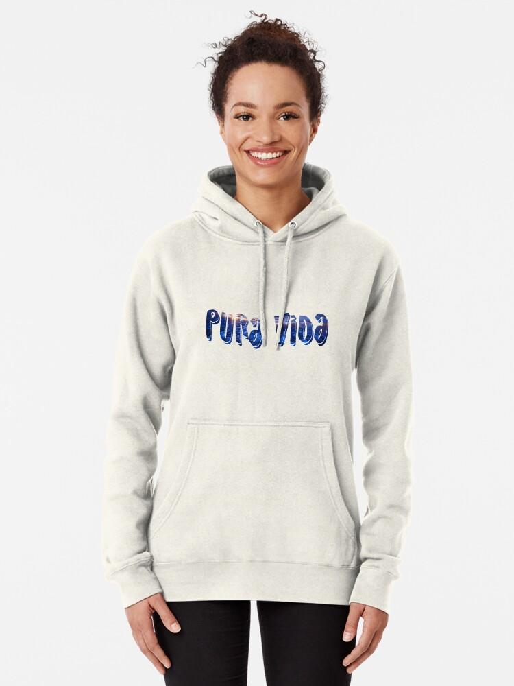 Alternate view of PURA VIDA sticker Pullover Hoodie