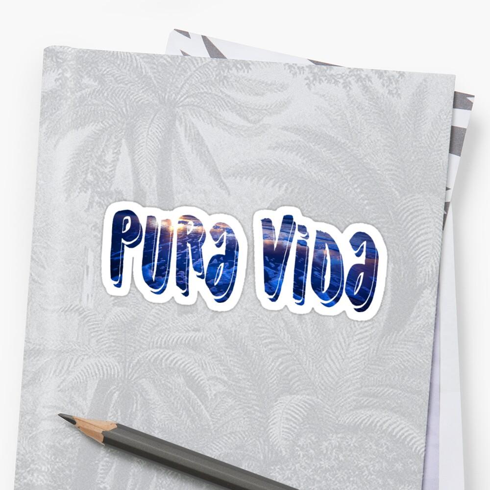 PURA VIDA sticker Sticker