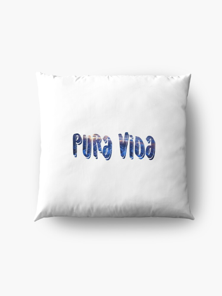Alternate view of PURA VIDA sticker Floor Pillow