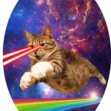 Laser cat in space  by MickeyRemnant