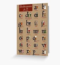 Shakespeare Alphabet Greeting Card