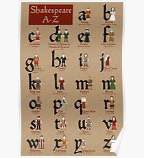 Shakespeare-Alphabet Poster