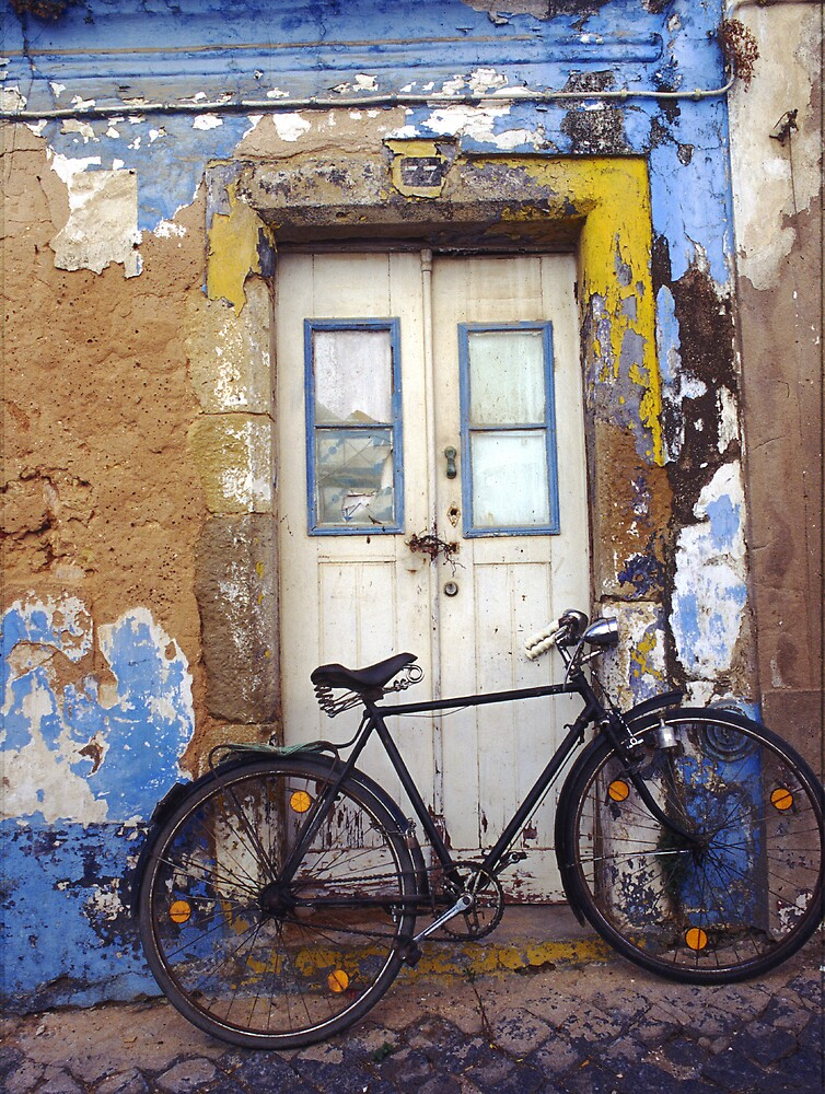 Old Bike in Portugal by Chris  Tumbusch