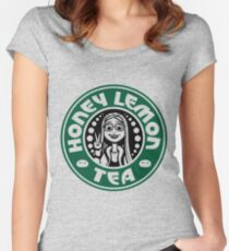 honey lemon tea Women's Fitted Scoop T-Shirt