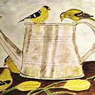 A Goldfinch Gathering by AngieDavies