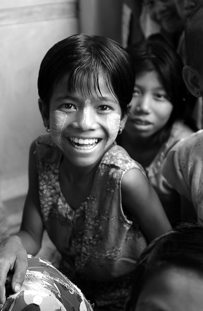 Smiles in Myanmar by Mick Yates