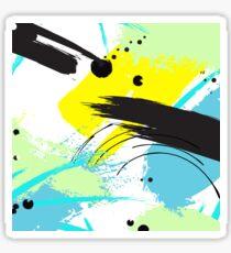 Yellow splash Sticker