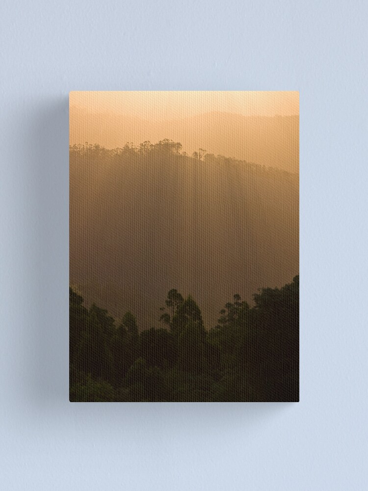 Alternate view of Sunset over the forest Canvas Print