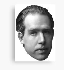 Niels Bohr floating head - noir Canvas Print