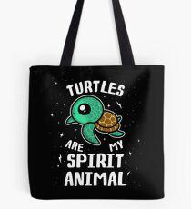 Turtles Are My Spirit Animal T-Shirt Tote Bag