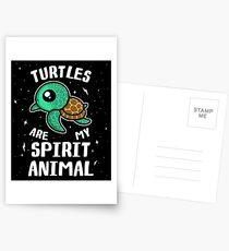 Turtles Are My Spirit Animal T-Shirt Postcards