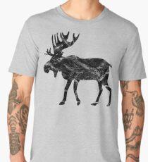 Rentier Hirsch oder Elch im Vintage Style Men's Premium T-Shirt