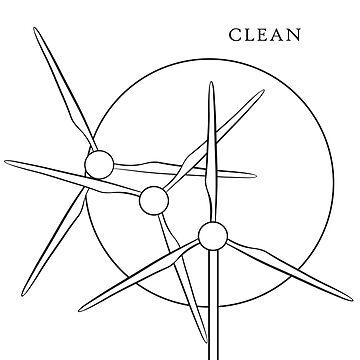 Clean Energy Windmills by KPCStudios