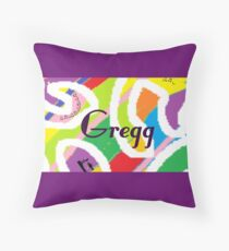 Gregg - original artwork to personalize your gift Throw Pillow