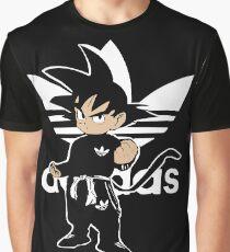 Sayanadidas white goku adidbas dragon ball BDZ anime manga Graphic T-Shirt