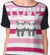 Valentine Panda Love Chiffon Top