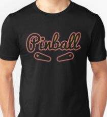 Pinball Bright With Flippers Retro Vintage Unisex T-Shirt