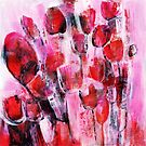 abstract flower painting by Carolynne