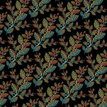 Maori leaves pattern by Pacoredbubble