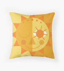 Mid Century Sun - Yellow Throw Pillow