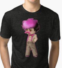 Wilford Warfstache Chibi Tri-blend T-Shirt
