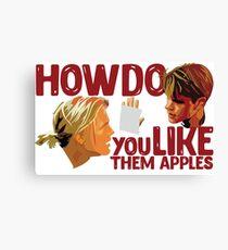 Good Will Hunting - Apple Canvas Print