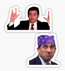 Pegatina La oficina: Michael Scott Sticker Two Pack
