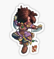 Fitzhywel's Fantastical Paraphernalia: Tiny Bard! Sticker