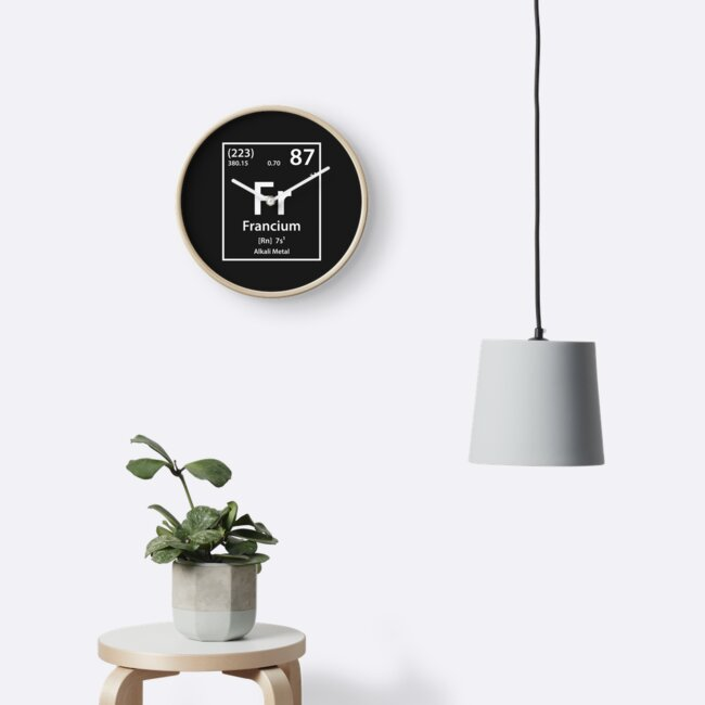 Francium Element Clocks By Cerebrands Redbubble