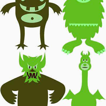 Monster Friends by designbyzach
