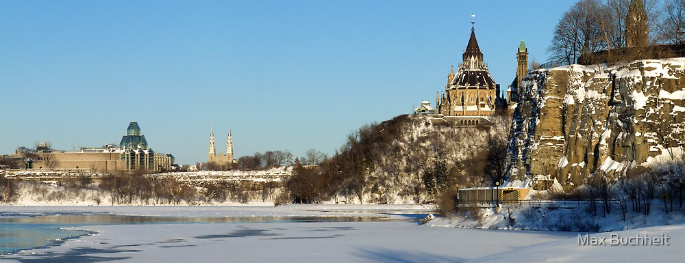Winter's View of Parliament from the Ottawa River by Max Buchheit