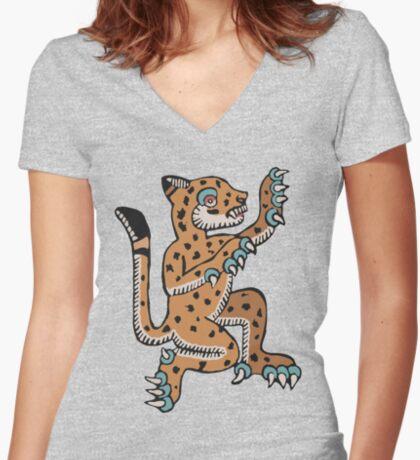 Ocelot Women's Fitted V-Neck T-Shirt