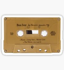bon iver cassette tape sticker Sticker
