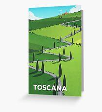 """Toscana"" (Tuscany) Cycling Poster Greeting Card"