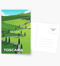"""Toscana"" (Tuscany) Cycling Poster Postcards"
