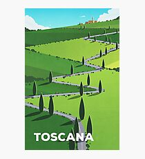 """""""Toscana"""" (Tuscany) Cycling Poster Photographic Print"""
