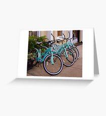 Blue Bikes Greeting Card