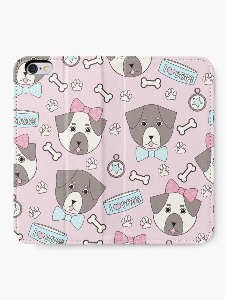 Alternate view of Kawaii Doggos iPhone Wallet