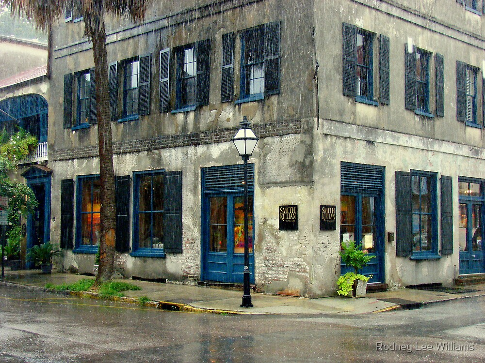 Art Gallery in the Rain by Rodney Lee Williams