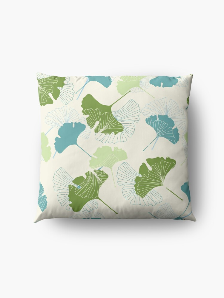 Alternate view of Ginkgo Leaves Floor Pillow