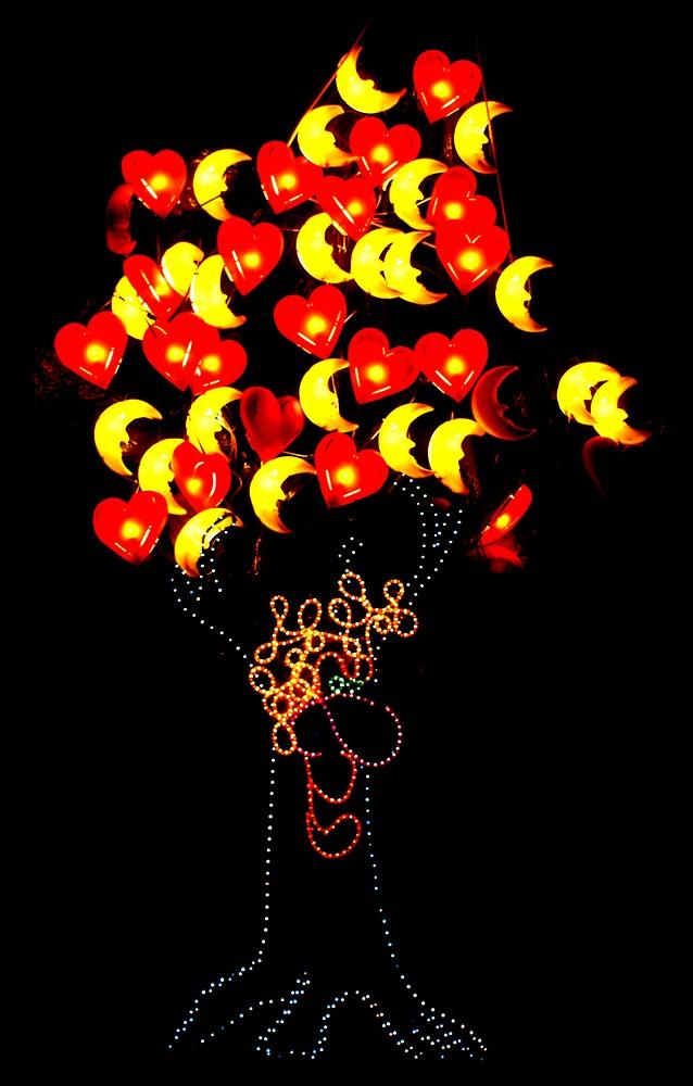 Heart & Moon Tree by Keith Smith