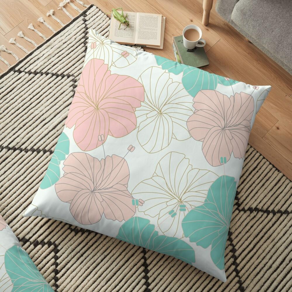 Floral Blush Floor Pillow