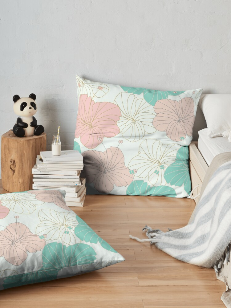 Alternate view of Floral Blush Floor Pillow
