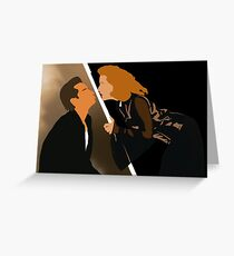 X Files - Mulder Scully David Duchovny Gillian Anderson Greeting Card