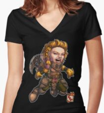 Fitzhywel's Fantastical Paraphernalia: Fighter! Women's Fitted V-Neck T-Shirt