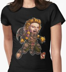 Fitzhywel's Fantastical Paraphernalia: Fighter! Women's Fitted T-Shirt