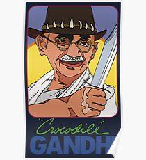 Crocodile Gandhi Poster
