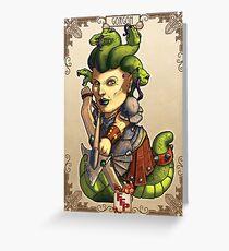Fitzhywel's Fantastical Paraphernalia: Gorgon! Greeting Card