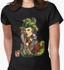 Fitzhywel's Fantastical Paraphernalia: Gorgon! Women's Fitted T-Shirt